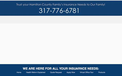 Screenshot of Products Page gordoninsuranceinc.com - gordon-insurance | Products - captured Feb. 18, 2018