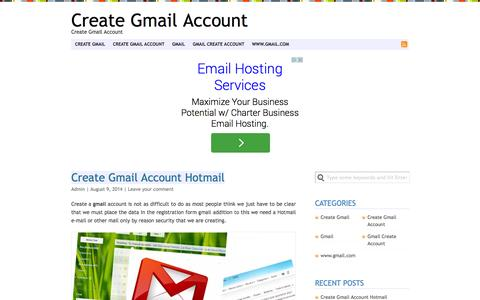 Screenshot of Home Page create-gmail-account.co.in - Create Gmail Account - captured Sept. 19, 2014