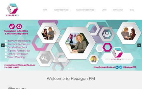 Screenshot of Home Page hexagonfm.co.uk - Facilities Management Recruitment Specialists | Hexagon FM - captured Jan. 23, 2015