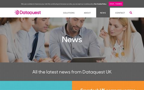 Screenshot of Press Page dataquestuk.com - News | Dataquest UK - captured Nov. 23, 2016