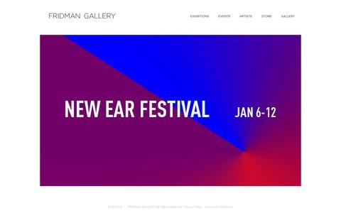 Screenshot of Home Page fridmangallery.com - New York Contemporary Art Gallery - captured Jan. 8, 2016
