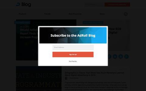Screenshot of Blog adroll.com - AdRoll Retargeting & Online Marketing Blog - captured Feb. 4, 2016