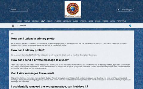 Screenshot of FAQ Page casinoexecutivenetwork.com - FAQ - captured July 17, 2017
