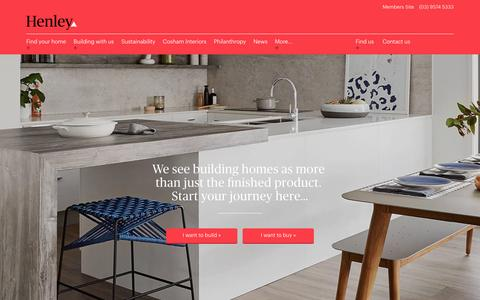 Screenshot of Home Page henley.com.au - Say Hello To A Builder you can Trust | Henley - captured Jan. 29, 2017