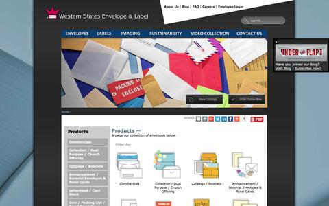 Screenshot of Products Page wsel.com - Products | WSEL - captured Dec. 21, 2016
