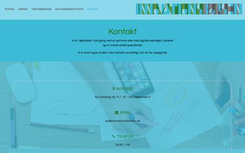 Screenshot of Contact Page innovationsboersen.dk - Kontakt   InnovationsBørsen - captured Oct. 15, 2017