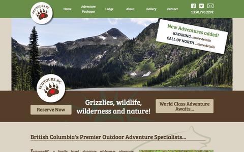 Screenshot of Home Page ecotours-bc.com - Ecotours BC - Home   Ecotours-BC / World Class Fishing - captured Dec. 7, 2015