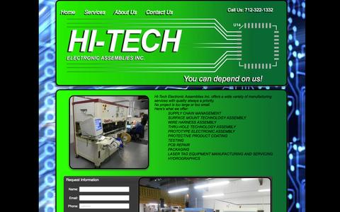 Screenshot of Services Page hteai.com - HI-Tech Electronics Services - captured Oct. 1, 2014