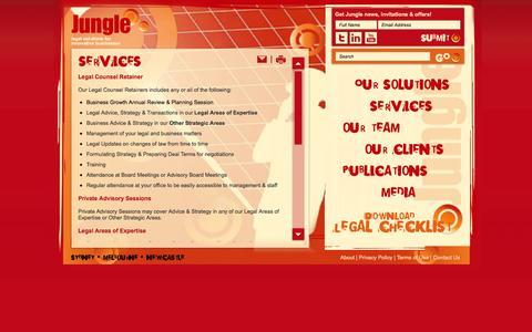 Screenshot of Services Page jungle.com.au - Jungle - Services - captured Oct. 6, 2014