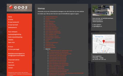Screenshot of Site Map Page goos.nl - Sitemap - captured Sept. 29, 2018