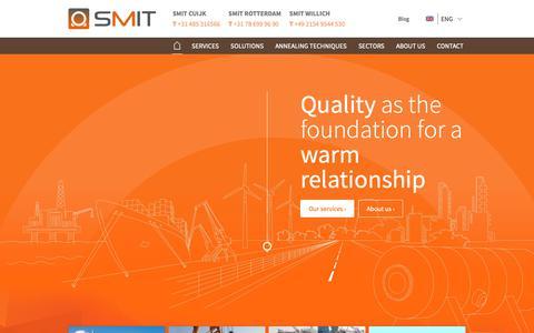 Screenshot of Home Page smit-industrial.com - Home | Smit Industrial - captured Oct. 18, 2018