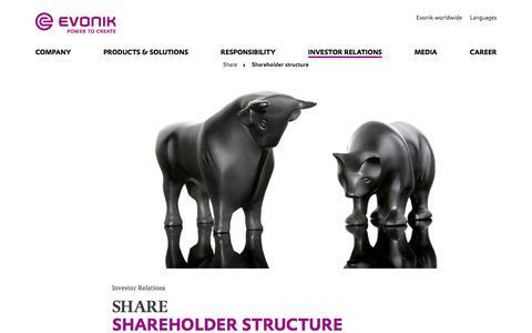 Evonik Industries - Specialty Chemicals - Investor Relations - Evonik Industries AG