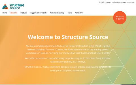 Screenshot of About Page structuresource.com - About Us - Structure Source - captured Oct. 20, 2018