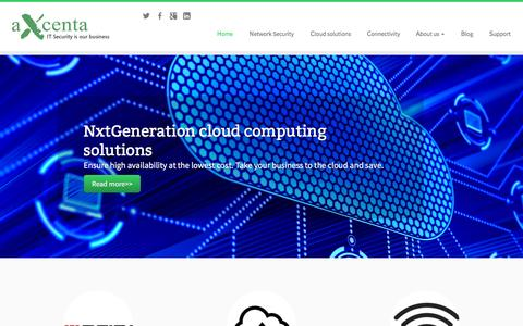 Screenshot of Home Page axcenta.com - Axcenta - captured Feb. 6, 2016