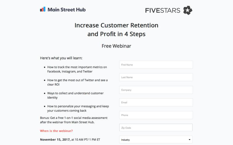 Free Webinar: Main Street Hub & FiveStars