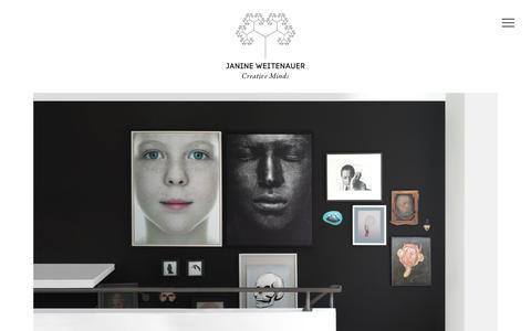 Screenshot of Jobs Page be-jam.de - Janine Weitenauer – Creative Minds – jobs - captured Nov. 26, 2016