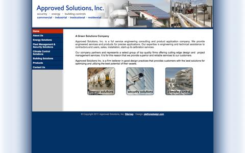 Screenshot of Menu Page approved-solutions.com - Approved Solutions - captured Oct. 4, 2014