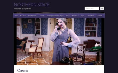 Screenshot of Contact Page northernstage.org - Contact | northern stage - captured Jan. 11, 2016