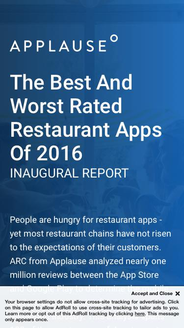 ARC Report: The Best & Worst Rated Restaurant Apps