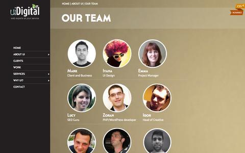 Screenshot of Team Page uidigital.com - The UiDigital Team Of Web Designers and Online Marketing Specialists - captured Sept. 23, 2014