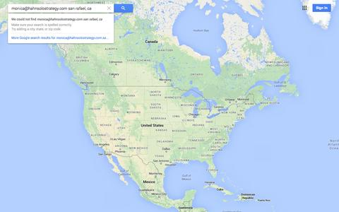 Screenshot of Maps & Directions Page google.com - Google Maps - captured Nov. 1, 2014