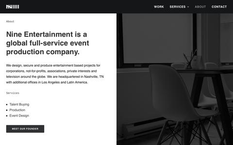 Screenshot of About Page nine-entertainment.com - About Us - Nine Entertainment - captured Dec. 7, 2016