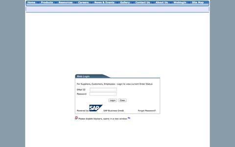 Screenshot of Login Page infantron.net - Infantron Web Login - Powered by SAP Business One ® SAP (TM) :: Infantron Singapore - captured Oct. 6, 2014
