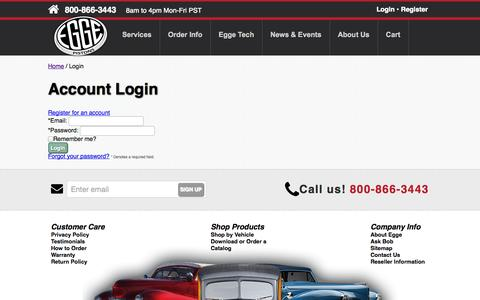Screenshot of Login Page egge.com - Login to your account at Egge.com - captured Oct. 31, 2014