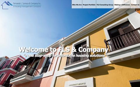 Screenshot of Home Page sumaza.org - FLS & Company   A Housing Management Company - captured Sept. 8, 2015