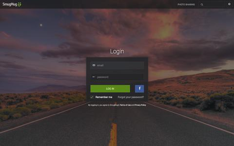 Screenshot of Login Page smugmug.com - Photo Sharing. Your Photos Look Better Here. - captured Dec. 12, 2015