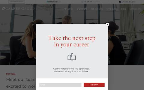 Screenshot of Team Page careergroupcompanies.com - Administrative Recruiting Firm | Our Team | Career Group - captured July 19, 2018