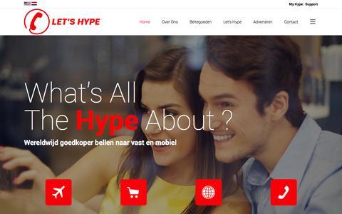 Screenshot of Home Page hype-telecom.com - Hype Telecom | Let's Hype - captured Sept. 30, 2014