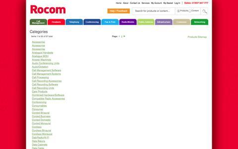 Screenshot of Site Map Page rocom.co.uk - Rocom - captured Sept. 30, 2014