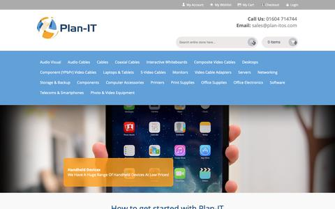 Screenshot of Home Page plan-itos.com - Plan-IT Office Solutions - captured Sept. 28, 2018