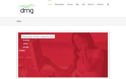 Screenshot of Home Page dmgcommunications.com.au - DMG Communications – AVAYA – Telstra Business Partner - captured Jan. 7, 2016