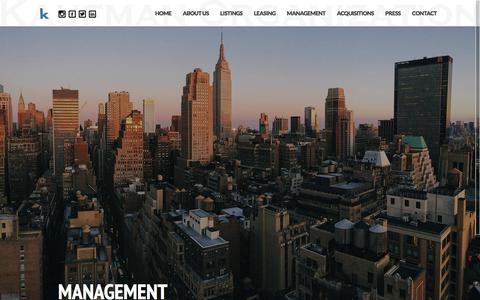 Screenshot of Team Page kaufmanorganization.com - Kaufman Management: Commercial Property Management - captured Oct. 17, 2017