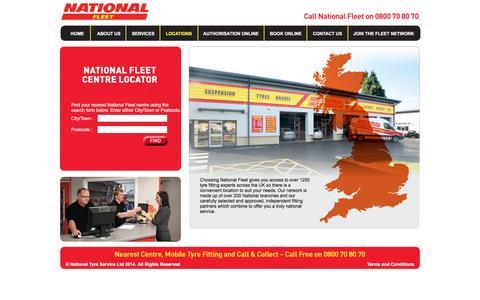 Screenshot of Locations Page national-fleet.co.uk - National Fleet - captured May 4, 2016