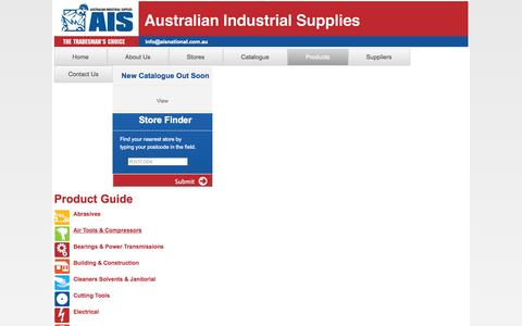 Screenshot of Products Page aisnational.com.au - Product Guide   Australian Industrial Supplies - captured Oct. 4, 2014