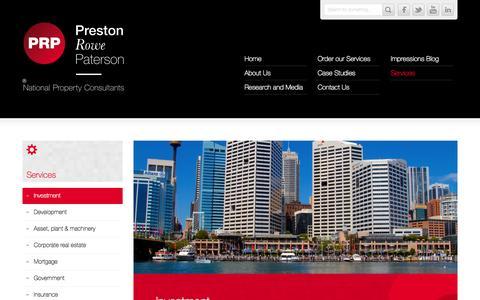 Screenshot of Services Page prpsydney.com.au - Services «  Preston Rowe Paterson . Sydney Australia - captured Oct. 1, 2014