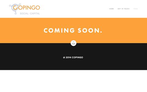 Screenshot of Team Page copingo.com - Team — copingo - captured March 16, 2016