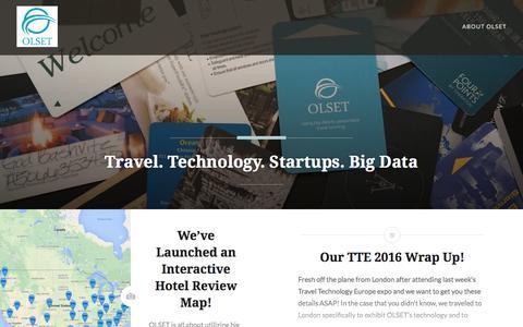 Screenshot of Blog olset.com - Travel. Technology. Startups. Big Data - captured Nov. 29, 2016
