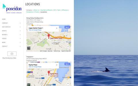 Screenshot of Locations Page poseidongroup.io - Locations | Poseidon Research - captured Oct. 23, 2014