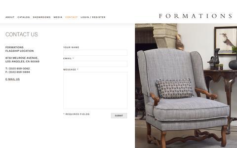 Screenshot of Contact Page formationsusa.com - Contact - captured Nov. 25, 2016
