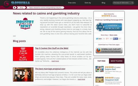 Screenshot of Press Page slotozilla.com - News Related To Casino And Gambling Industry | Slotozilla - captured Oct. 2, 2015