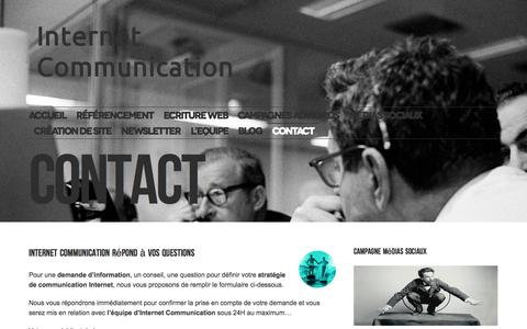 Screenshot of Contact Page internetcommunication.fr - Agence SEO à Toulouse et Castres | Contact Internet Communication - captured July 16, 2015