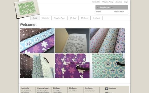 Screenshot of Home Page colors-and-shapes.com - Welcome! | Colors and Shapes - captured Oct. 2, 2014