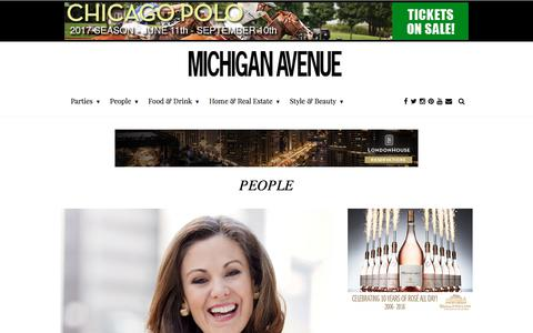 Screenshot of Team Page michiganavemag.com - Chicago's Top Celebrities and People - captured July 4, 2017