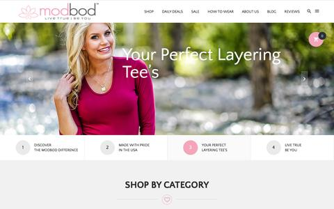 Screenshot of Home Page modbod.com - modbod | modest fashionable clothing - captured Sept. 4, 2015