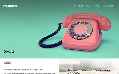 Screenshot of Contact Page rrdcreative.com - Contact - RRDCreative - captured Oct. 29, 2014