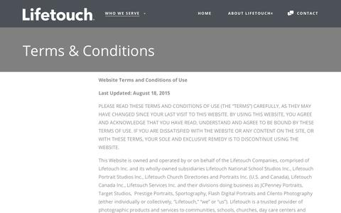 Terms & Conditions - Lifetouch